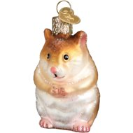 Old World Christmas Hamster Glass Tree Ornament, 2.75-in