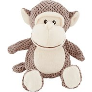 Frisco Textured Plush Squeaking Monkey Dog Toy