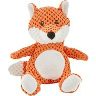 Frisco Textured Plush Squeaking Fox Dog Toy