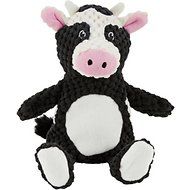 Frisco Textured Plush Squeaking Cow Dog Toy