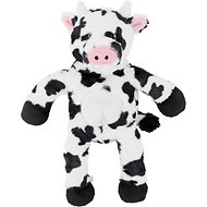 Frisco Plush with Inside Rope Squeaking Cow Dog Toy