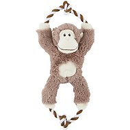 Frisco Plush with Rope Squeaking Monkey Dog Toy