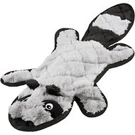 Frisco Flat Plush Squeaking Raccoon Dog Toy