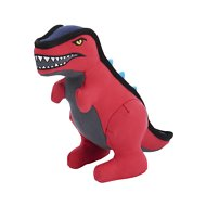 Frisco Canvas No Squeak Dino Dog Toy, Red