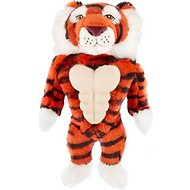 Frisco Muscle Plush Squeaking Tiger Dog Toy