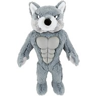 Frisco Plush Squeaking Wolf Dog Toy, Large