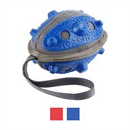 Frisco No Squeak Football Dog Toy, Blue