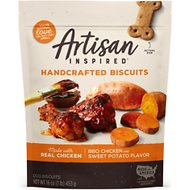 Vita Bone Artisan Inspired BBQ Chicken & Sweet Potato Flavor Biscuits Dog Treats, 16-oz bag