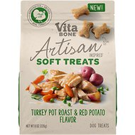 Vita Bone Artisan Inspired Turkey Pot Roast & Red Potato Flavor Soft Dog Treats, 8-oz bag