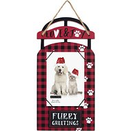 "Malden International Designs ""Furry Greetings"" Christmas Picture Frame, 4 x 6 in"