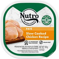 Nutro Grain-Free Slow Cooked Chicken Recipe Adult Pate Dog Food Trays, 3.5-oz, case of 24