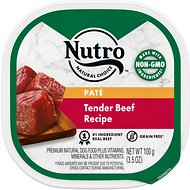 Nutro Grain-Free Tender Beef Recipe Adult Pate Dog Food Trays, 3.5-oz, case of 24