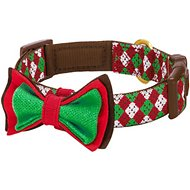 Blueberry Pet Christmas Party Fair Isle Dog Collar, Small
