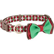 Blueberry Pet Christmas Party Fair Isle Dog Collar, Medium