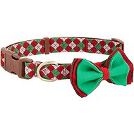 Blueberry Pet Christmas Party Fair Isle Dog Collar, Large