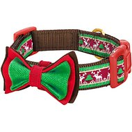Blueberry Pet Christmas Santa Claus's Reindeer Dog Collar, Medium