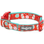 Blueberry Pet Christmas Moments of Excitement Snowman Making Dog Collar, Small
