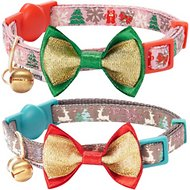 Blueberry Pet The Power of Lavish Holiday Blessed Christmas Trees Breakaway Cat Collar, 2 pack