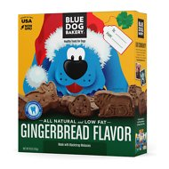 Blue Dog Bakery Gingerbread Cookie Dog Treats, 18-oz box