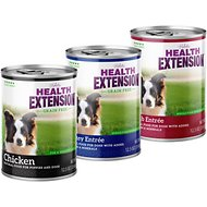 Health Extension Pate Variety Pack Canned Dog Food, 13.2-oz, case of 12
