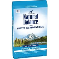 Natural Balance L.I.D. Limited Ingredient Diets High-Protein Pollock Formula Grain-Free Dry Dog Food, 24-lb bag
