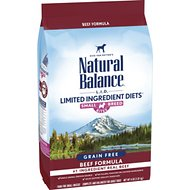 Natural Balance L.I.D. Limited Ingredient Diets High-Protein Beef Formula Small Breed Bites Grain-Free Dry Dog Food, 4-lb bag