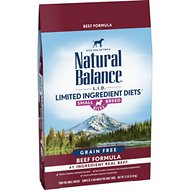 Natural Balance L.I.D. Limited Ingredient Diets Beef Formula Small Breed Bites Grain-Free Dry Dog Food, 12-lb bag