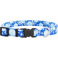 Yellow Dog Design Winter Wonderland Dog Collar, Medium