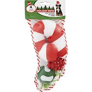 Ethical Pet Holiday Dog Toy Stocking, 4 count