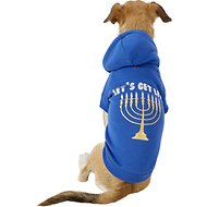 "Fab Dog ""Let's Get Lit"" Menorah Dog & Cat Hoodie, 14 in"