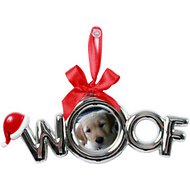 DEI WOOF Plated Frame Dog Ornament