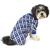 PetRageous Designs Blue Plaid Dog Pajamas, Medium