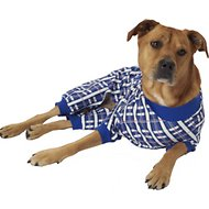 PetRageous Designs Blue Plaid Dog Pajamas, X-Large