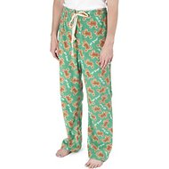 PetRageous Designs Oh Snap! Gingerbread Unisex Adult PJ Bottoms, X-Small