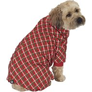 PetRageous Designs Red Plaid Dog Pajamas, Large