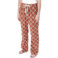 PetRageous Design Red Plaid Unisex Adult PJ Bottoms, X-Small