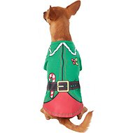 Pup Crew Elf Character Dog & Cat T-Shirt, Medium
