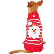 Pup Crew Red Striped Santa Dog & Cat Sweater, Medium