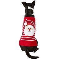 Pup Crew Red Striped Santa Dog & Cat Sweater, Large