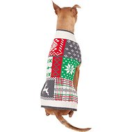 Pup Crew Holiday Patch Dog & Cat Sweater, XX-Large