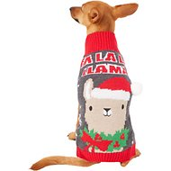 "Pup Crew ""Fa La La Llama"" Dog & Cat Sweater, Medium"
