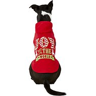 "Pup Crew ""Joy To The World"" Red Dog Hoodie, Large"