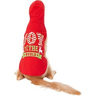 "Pup Crew ""Joy To The World"" Red Dog Hoodie, XX-Large"
