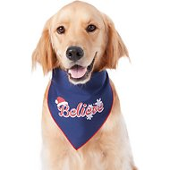 "Pup Crew Holiday ""Believe"" Dog & Cat Bandana, Medium/Large"