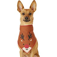 Pup Crew Reindeer Dog & Cat Bandana, X-Small/Small
