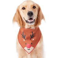 Pup Crew Reindeer Dog & Cat Bandana, Medium/Large