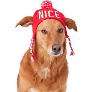Pup Crew Naughty/Nice Reversible Dog Knit Hat, Medium/Large