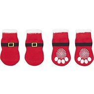 Pup Crew Santa Dog Socks, X-Small/Small