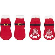 Pup Crew Non-Skid Santa Dog Socks, Medium/Large