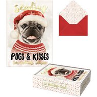 "Molly & Rex ""Sending Pugs & Kisses"" Holiday Cards"